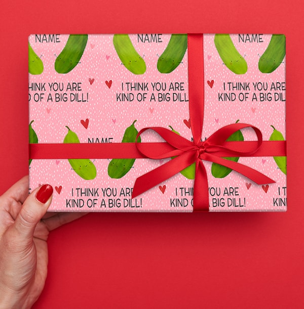 Big Dill Personalised Wrapping Paper