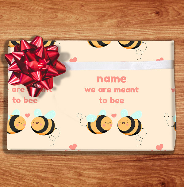 Meant to Bee Personalised Wrapping Paper