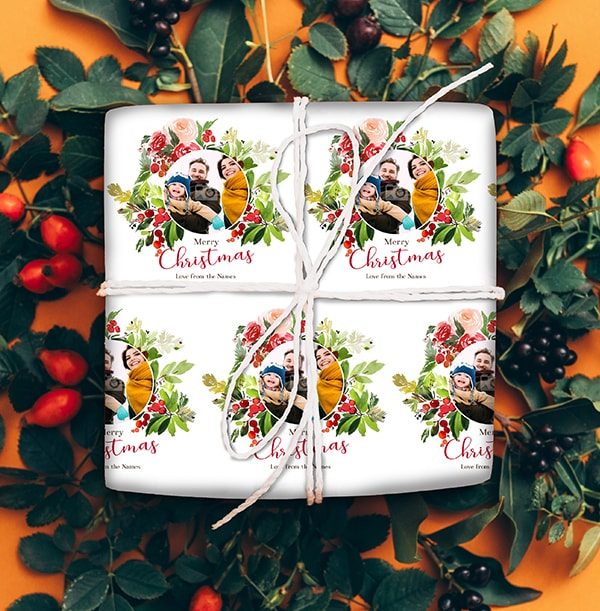 Family Photo Christmas Wrapping Paper