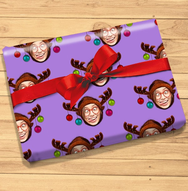 Reindeer Photo Christmas Wrapping Paper