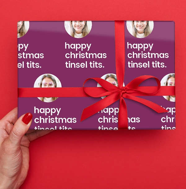 Tinsel Tits Christmas Wrapping Paper