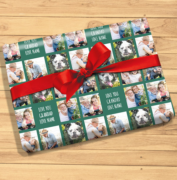 Love You Grandad Photo Wrapping Paper