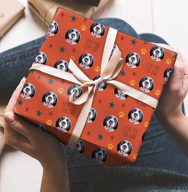 Fur Dad Full Photo Wrapping Paper