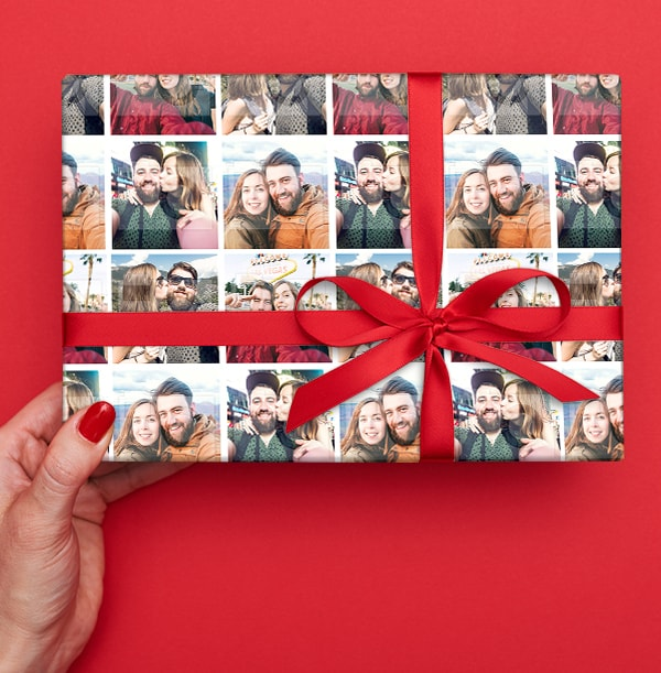 Photo Grid Wrapping Paper