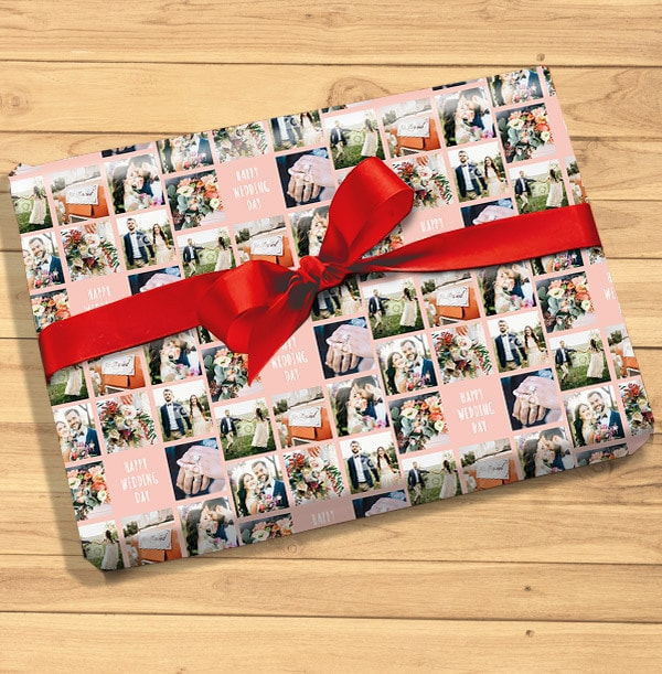 Happy Wedding Day Photo Wrapping Paper