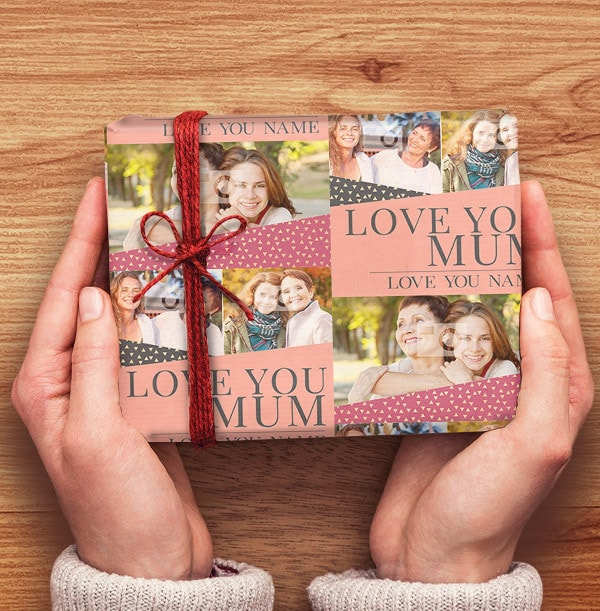 Love You Mum Photo Wrapping Paper