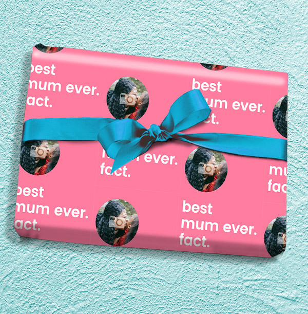 Best Mum Ever Fact Photo Wrapping Paper