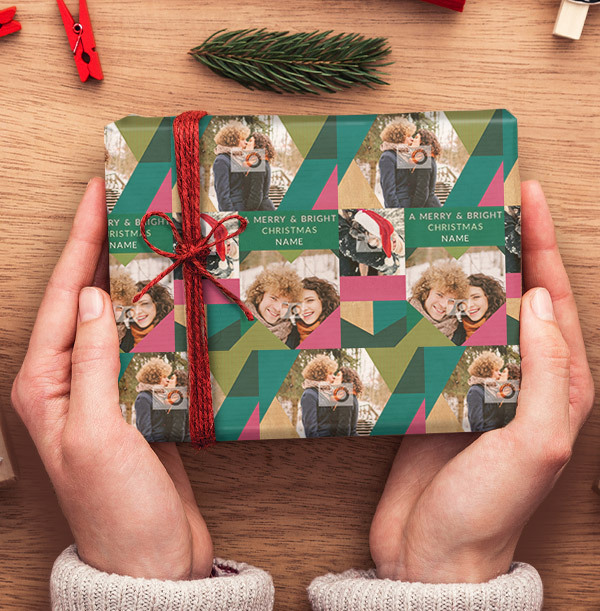 Merry Christmas Photo Wrapping Paper
