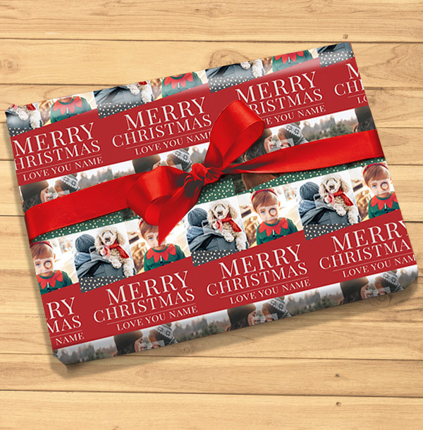 Traditional Photo Christmas Wrapping Paper