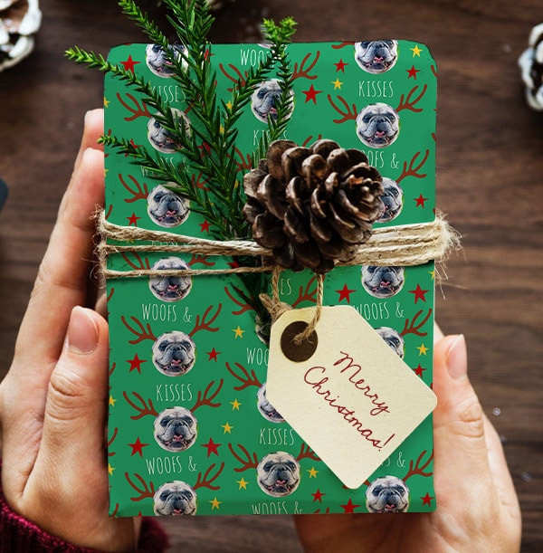 Woofs & Kisses Christmas Wrapping Paper