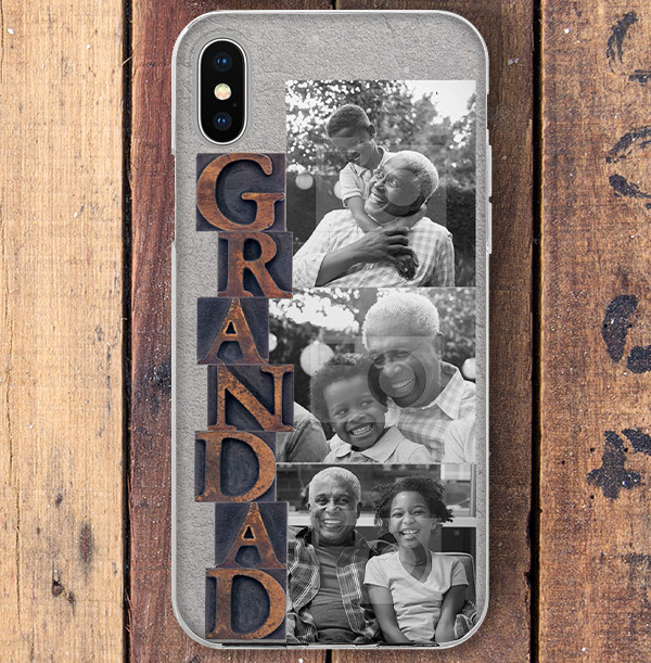 Grandad Photo Upload iPhone Case