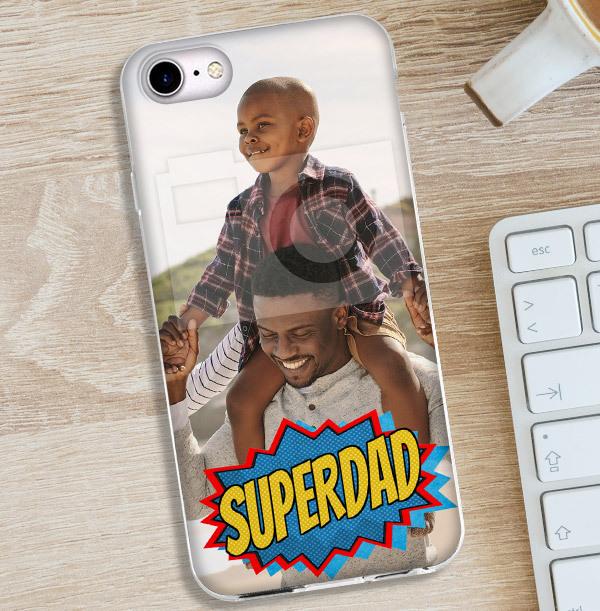 Super Dad Photo Upload iPhone Case