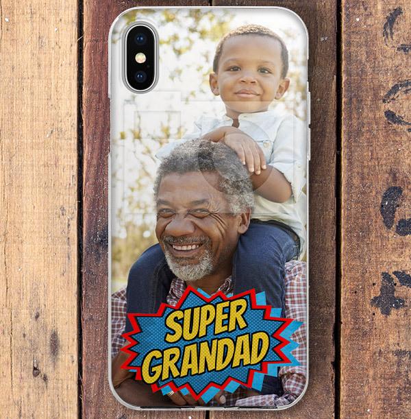 Super Grandad Photo Upload iPhone Case