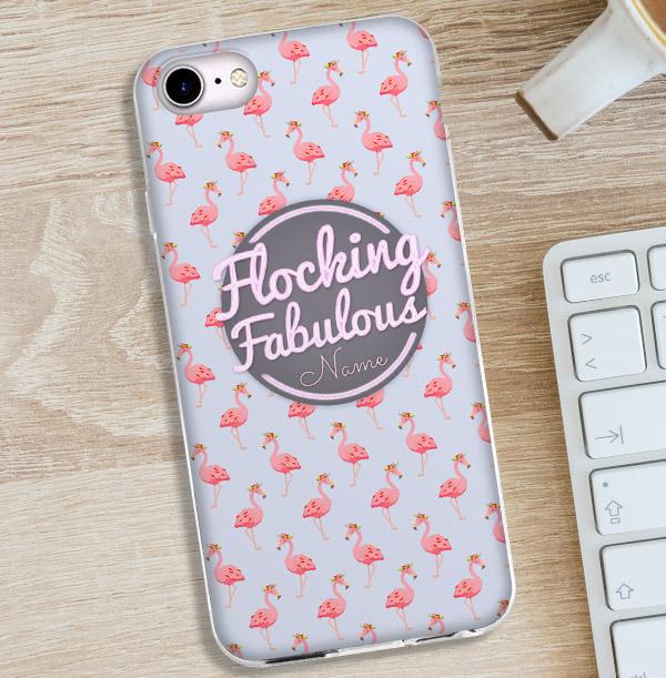Flamingo Personalised iPhone Case