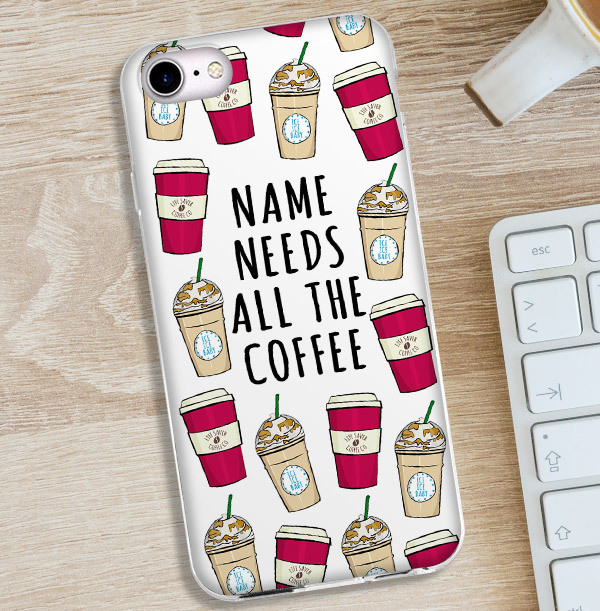 Need Coffee Personalised iPhone Case