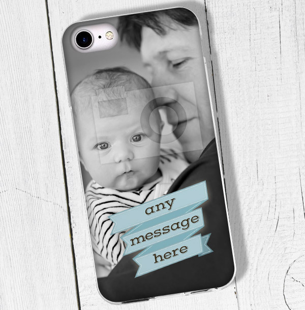 Blue Banner Personalised iPhone Case