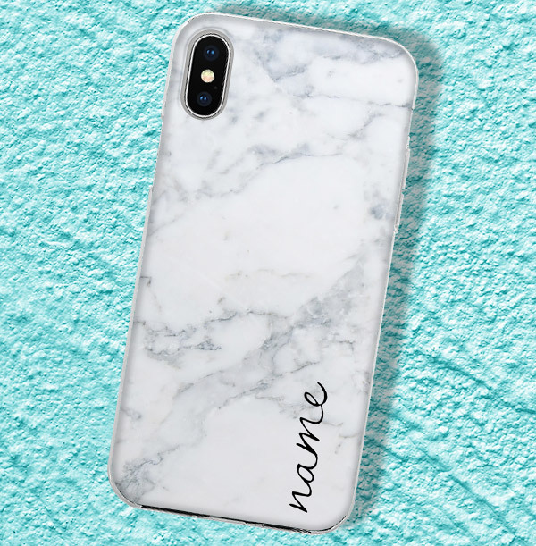 Classic Marble Personalised iPhone Case