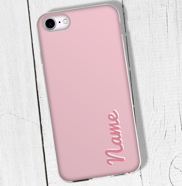 Personalised Pink iPhone Case - Pink Name