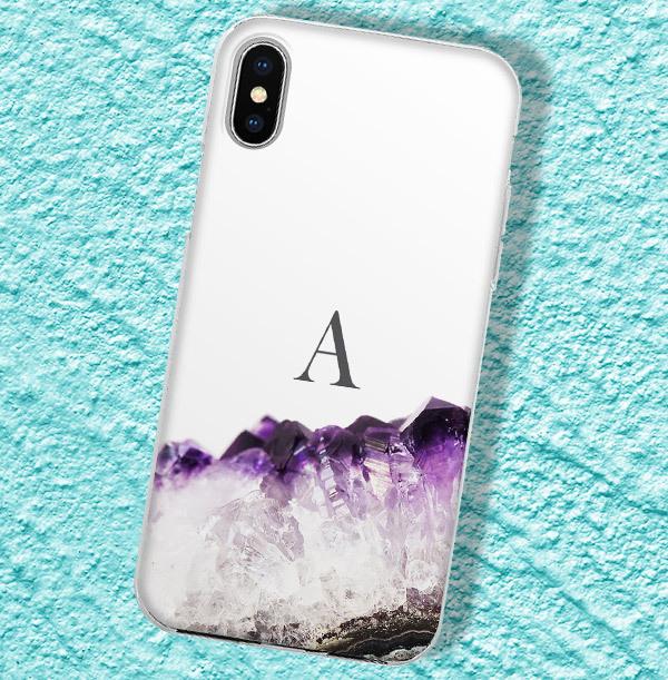 Purple Geode Personalised iPhone Case