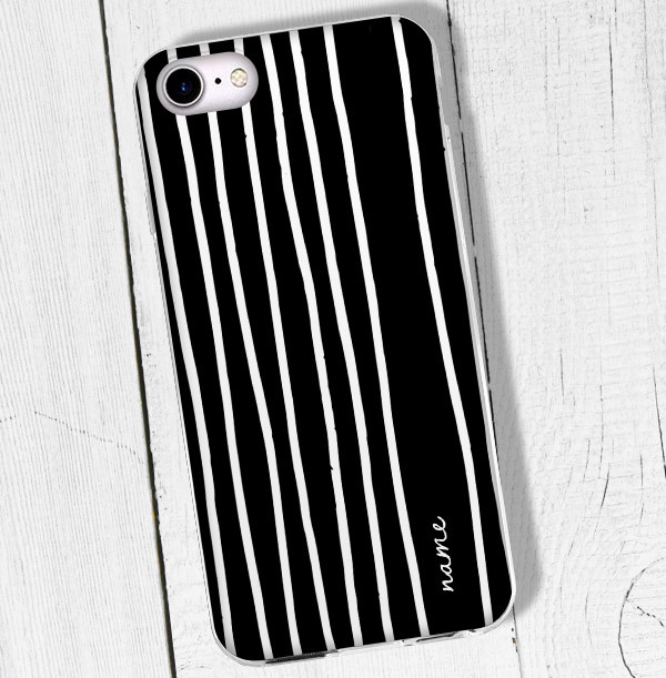 Contemporary Stripe Personalised iPhone Case