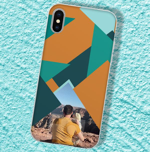 Photo & Geometric Pattern iPhone Case