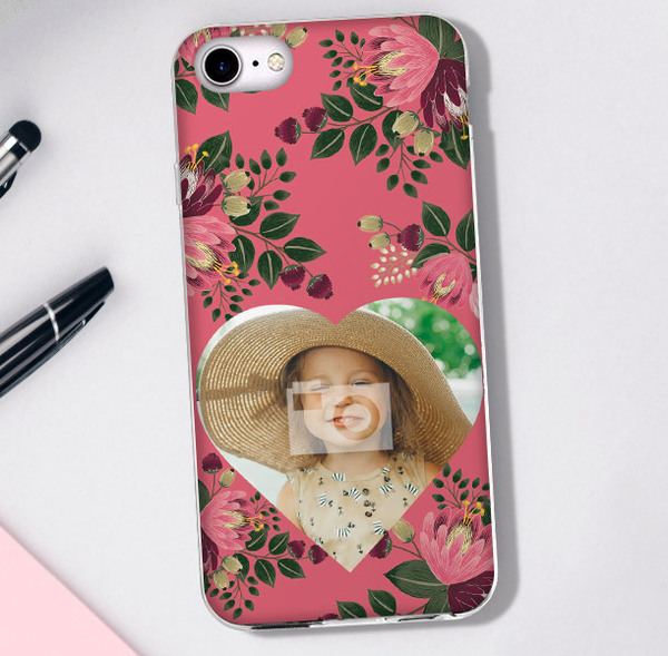 Young  Hearts Photo Upload Phone Cover