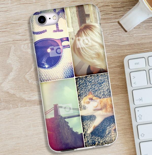 4 Photo Upload iPhone Case - Portrait