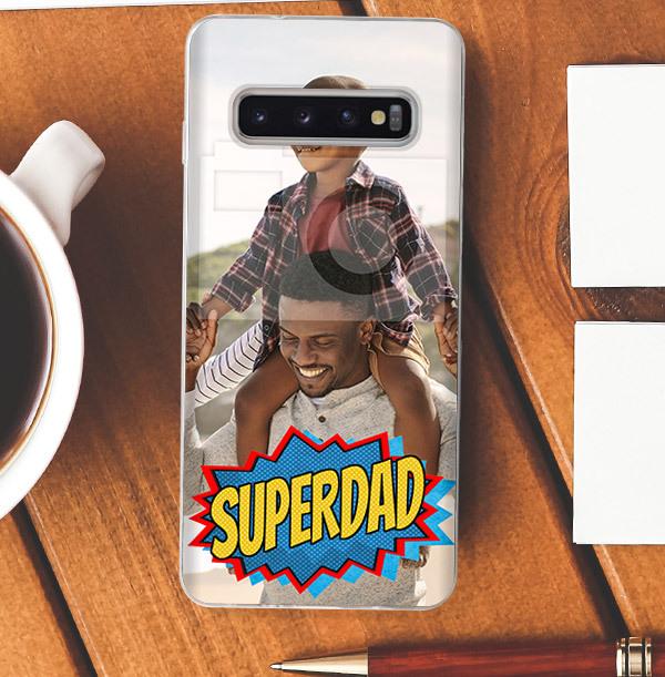 Super Dad Photo Upload Samsung Case