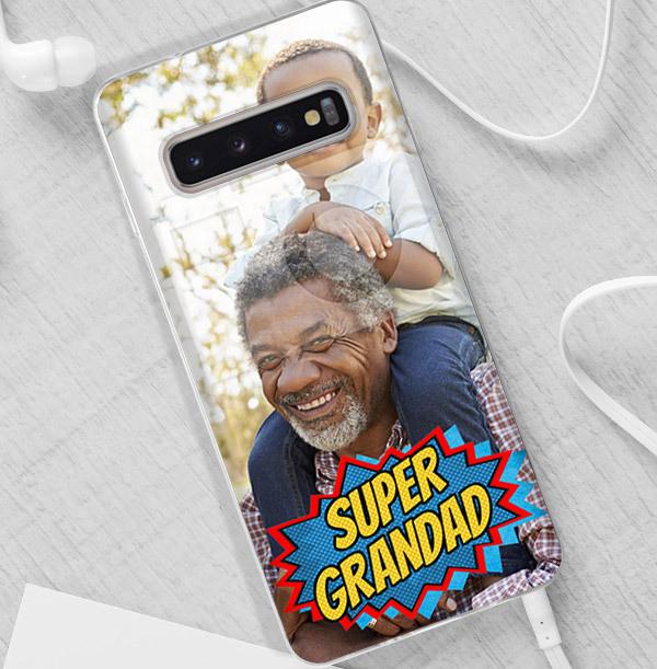 Super Grandad Photo Upload Samsung Case
