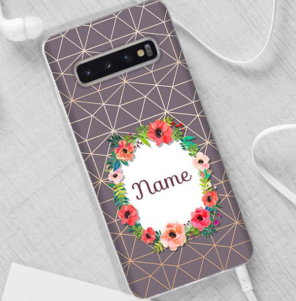 Geometric & Floral Personalised Samsung Phone Case