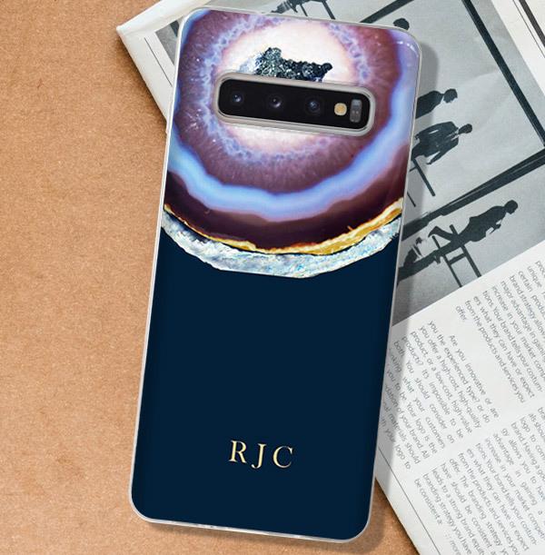 Blue Geode Personalised Samsung Case