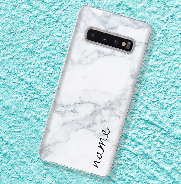 Classic Marble Personalised Samsung Phone Case