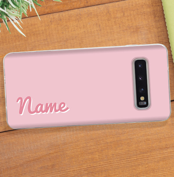 Personalised Pink Samsung Phone Case - Pink Name