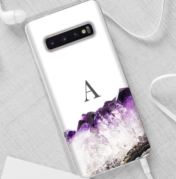 Purple Geode Personalised Samsung Case