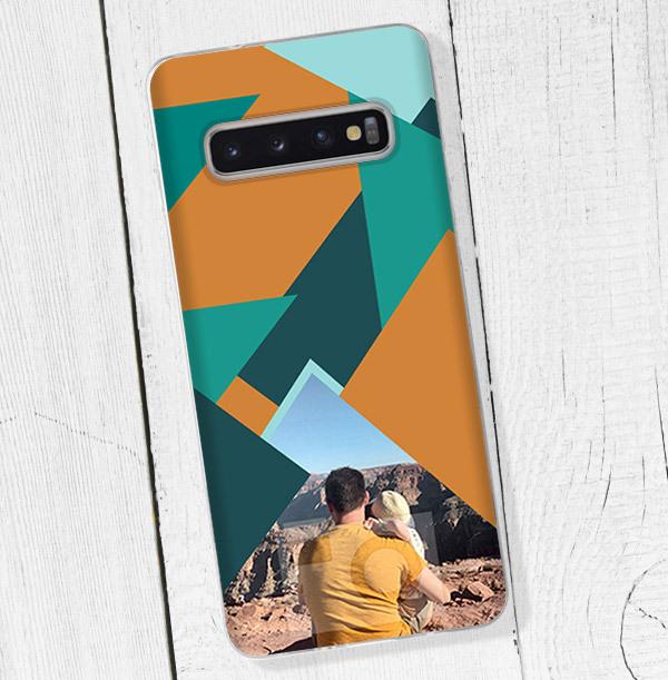 Photo & Geometric Pattern Samsung Phone Case