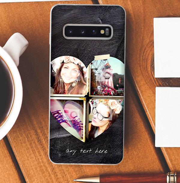 Chalk Multi Heart Photo Samsung Phone Case