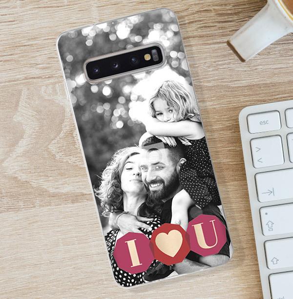 I Heart U Photo Samsung Phone Case