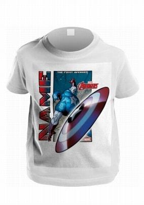 Captain America Personalised Kids T-Shirt - Avengers