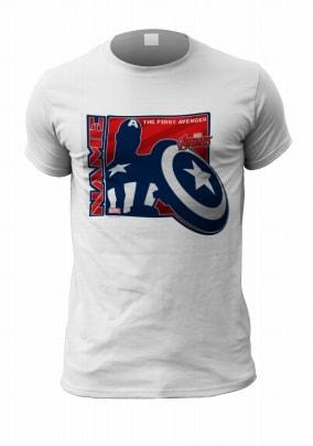 Personalised Captain America Men's T-Shirt - First Avenger