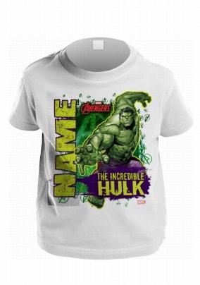 Hulk Personalised T-Shirt for Kids - Marvel Avengers