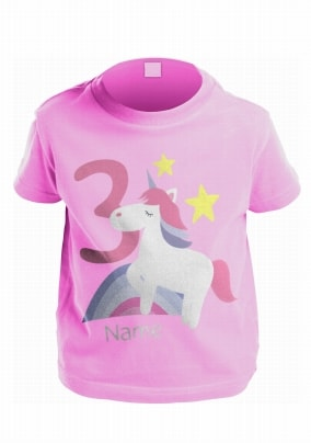 Personalised Unicorn Kid's Birthday Age T-Shirt