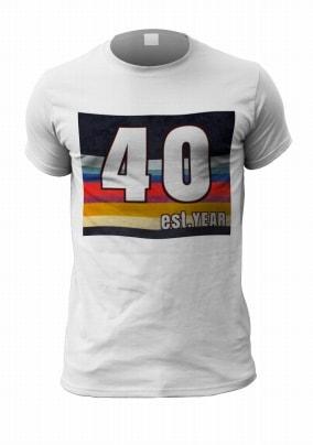Est. Year Retro Personalised Men's Birthday T-Shirt