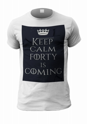 Forty Is Coming Personalised Men's Birthday T-Shirt