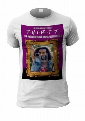 T.H.I.R.T.Y Men's Photo Birthday T-Shirt