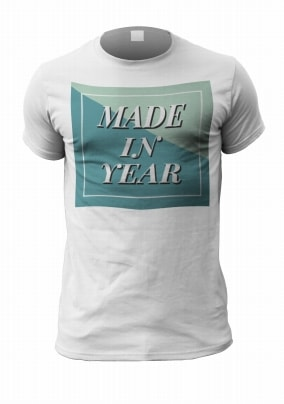 Made In...Personalised Year Men's T-Shirt