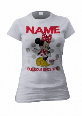 Personalised Minnie Mouse T-Shirt - Always Fabulous