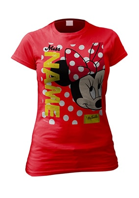 Personalised Women's Minnie Mouse T-Shirt - Polka Dots