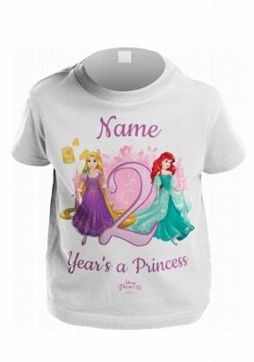Disney Princess Personalised Kids Age T-Shirt