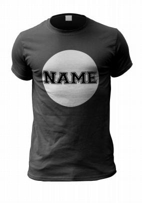 Personalised Name T-Shirt - Retro White Circle