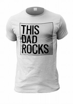 This Dad Rocks Personalised T-Shirt